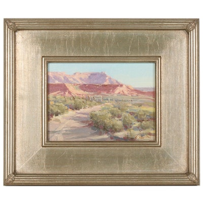 Kate Starling Oil Painting of Southwest Landscape
