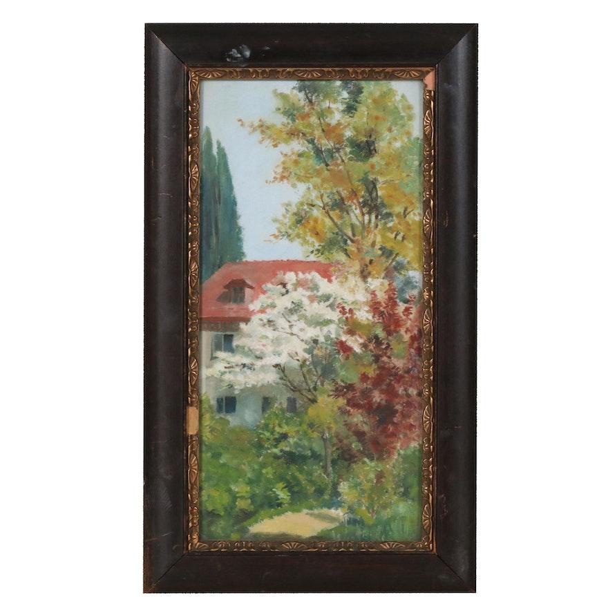 Springtime Landscape Oil Painting