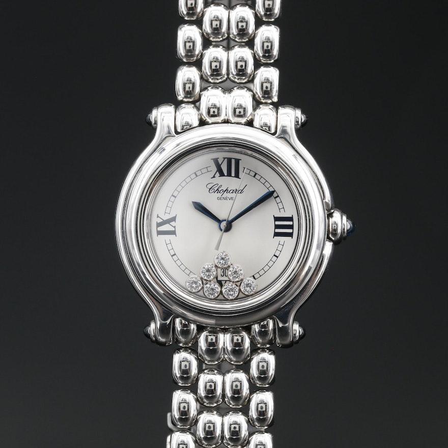 """Chopard """"Happy Sport"""" Stainless Steel and Diamond Quartz Wristwatch # 27/8236-23"""