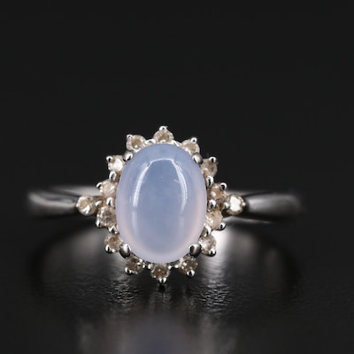 14K Chalcedony and Diamond Ring