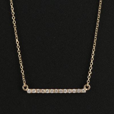 Odelia 14K Diamond Bar Necklace