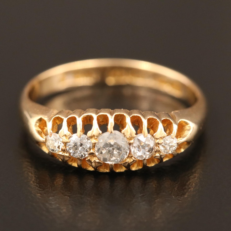1900s 18K Diamond Ring