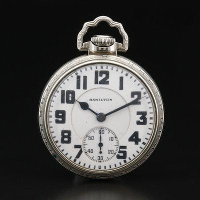 1928 Hamilton Railroad Grade 14K Gold Filled Pocket Watch