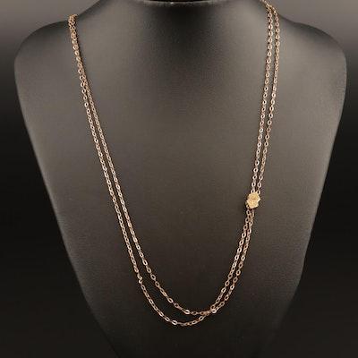 Victorian Diamond Watch Fob and Chain