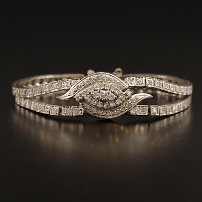 14K 1.75 CTW Diamond Double Line Bracelet