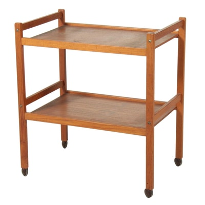 Danish Modern Teak Bar Cart, Mid 20th Century