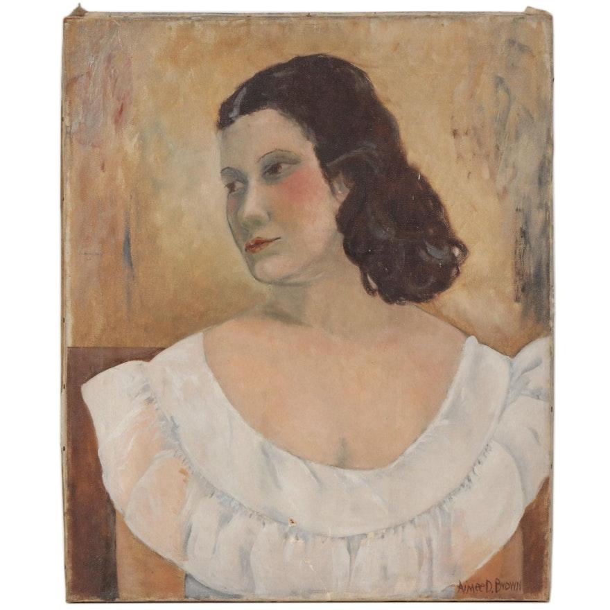 Aimee D. Brown Portrait Oil Painting