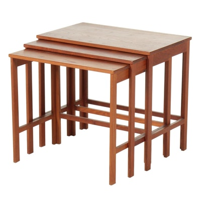 Peter Hvidt for France & Sons Danish Modern Teak Nesting Tables, Mid-20th C.
