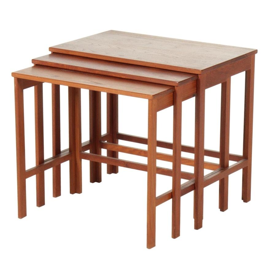 Peter Hvidt for France & Sons Danish Modern Teak Nesting Tables, Mid-20th C.