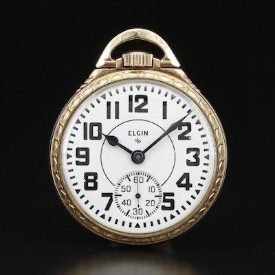 """1950 Elgin """"Railroad Grade"""" 10K Gold Filled Pocket Watch"""