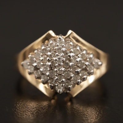 14K Pavé Diamond Ring