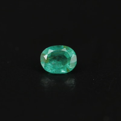 Loose 0.76 CT Oval Faceted Emerald