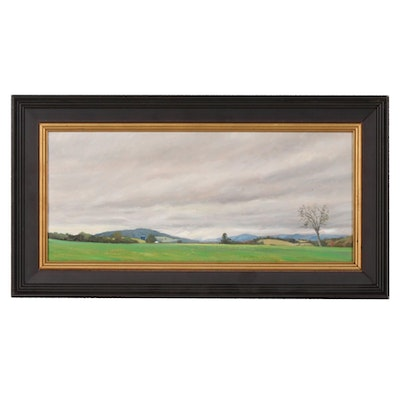 """Oil Painting """"View From Sham Station Road"""", 1996"""