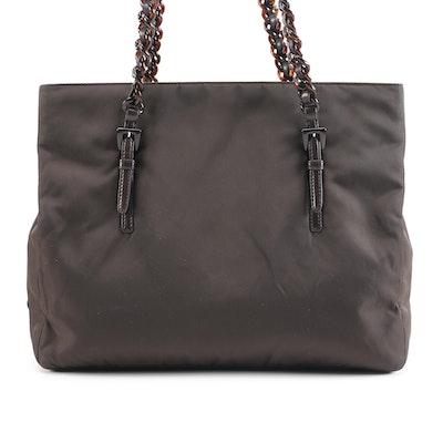 Prada Ebano Tessuto Nylon Tote Bag