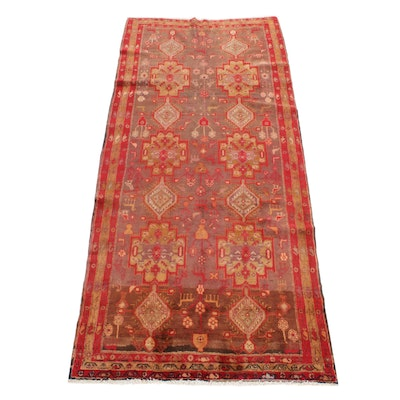 4'4 x 9'10 Hand-Knotted Northwest Persian Hallway Runner, 1960s