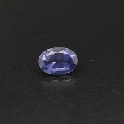 Loose 0.70 CT Oval Faceted Iolite