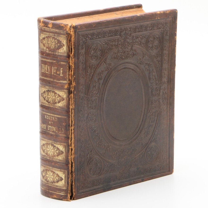"""""""The Comprehensive and Self-interpreting Family Bible"""" Edited by C. Stowe, 1870"""