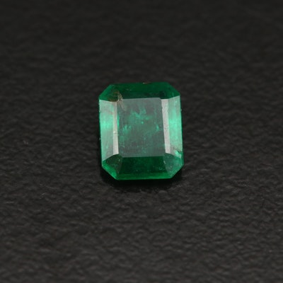 Loose 0.60 CT Rectangular Emerald