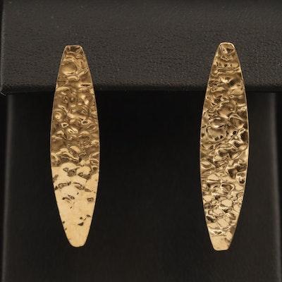 10K Hammered Earrings