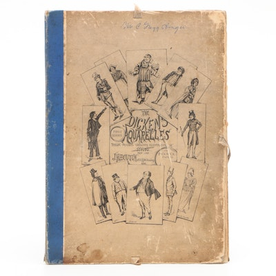 "First Edition ""The Dickens Aquarelles. First Series"" Twelve Illustrations, 1888"