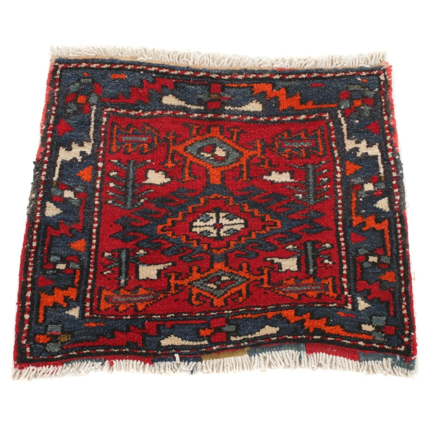 1'9 x 2'1 Hand-Knotted Northwest Persian Rug, 1930s