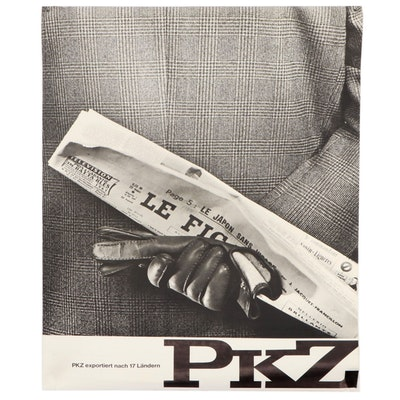 Advertising Poster for PKZ Textile Company