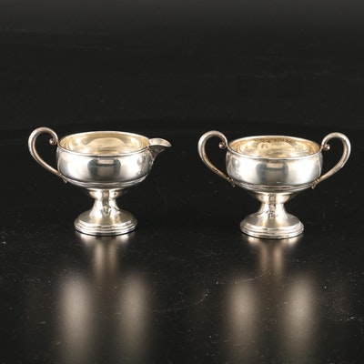 Revere Silver Smiths Weighted Sterling Silver Creamer and Sugar Bowl, 20th C