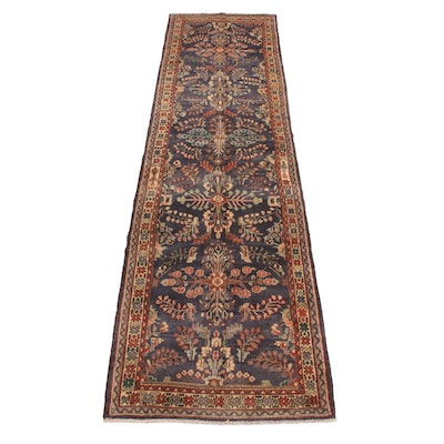 3'6 x 13'7 Hand-Knotted Persian Lilihan Wide Runner, 1970s
