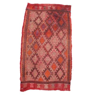 1'7 x 3'1 Hand-Knotted Caucasian Soumak Rug, 1920s