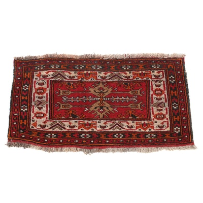 1'7 x 2'9 Hand-Knotted Persian Turkoman Rug, 1930s