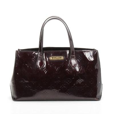 Louis Vuitton Wilshire PM Handbag in Monogram Amarante Vernis Leather