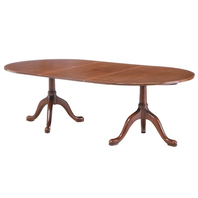 "Kittinger & Buffalo ""Williamsburg Restoration"" Double Pedestal Dining Table"