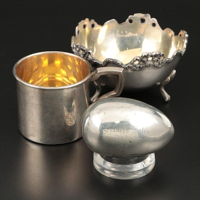 Shiebler Sterling Silver Egg and Other Tablewares , Early to Mid 20th Century