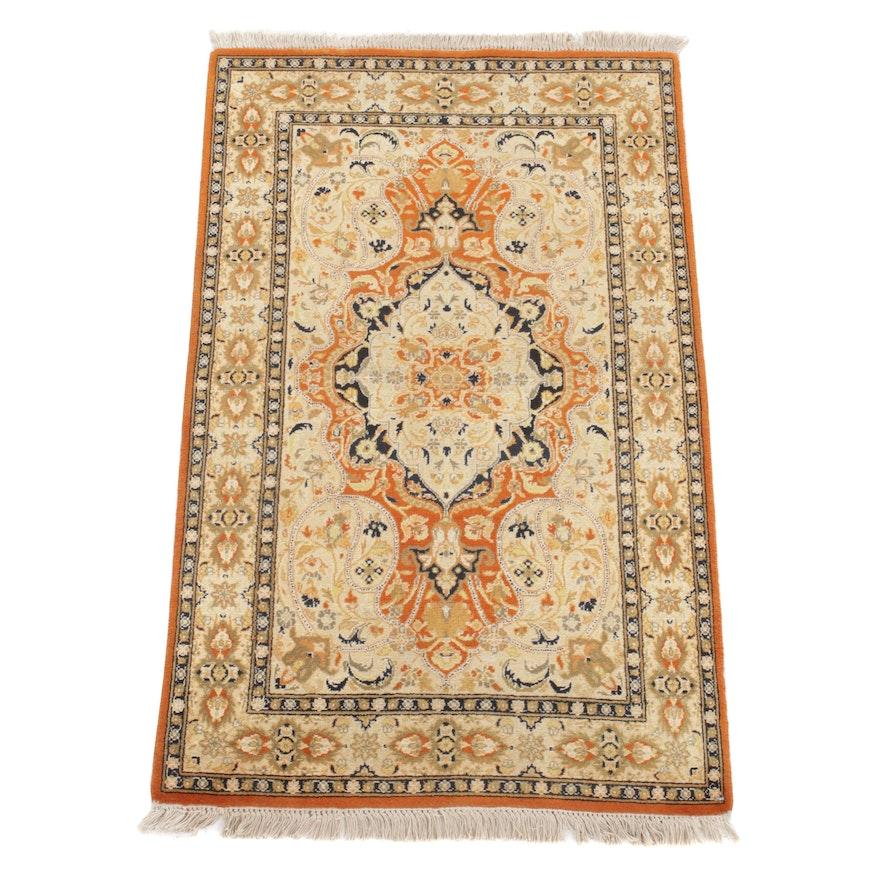 2'8 x 4'6 Hand-Knotted Pakistani Persian Tabriz Rug, 2000s