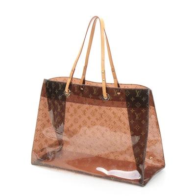 Louis Vuitton Ambre Cruise Tote Bag in Monogram Vinyl and Vachetta Leather