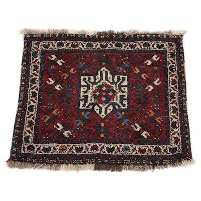 2'1 x 2'7 Hand-Knotted Persian Qashkaie Shiraz Rug, 1930s