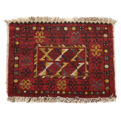 1'7 x 2' Hand-Knotted East Turkestan Turkoman, 1920s