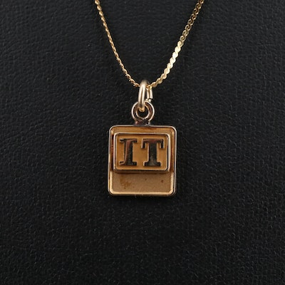 14K Pendant with 10K Chain Necklace