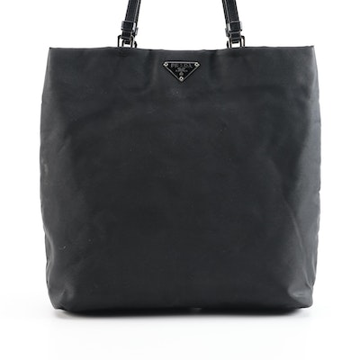 Prada Shopper Black Tessuto Nylon Tote