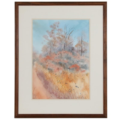 Rosemarie Southworth Abstract Landscape Watercolor Painting