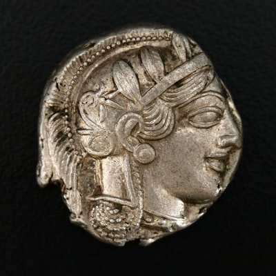 Ancient Attica, Athens AR Tetradrachm Coin, ca. 450 B.C.