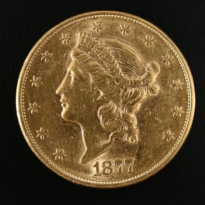 1877-S Liberty Head $20 Gold Double Eagle Coin