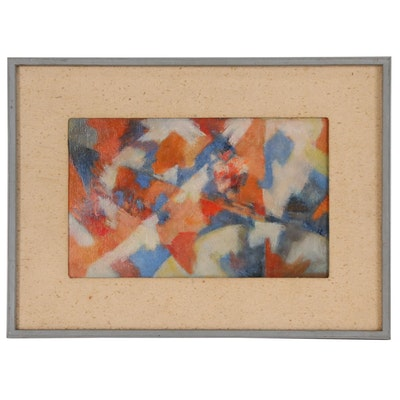 Abstract Oil Painting, Mid-Late 20th Century