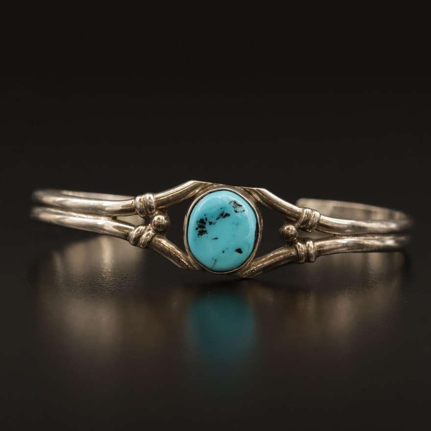 Running Bear Shop Sterling Silver Turquoise Cuff