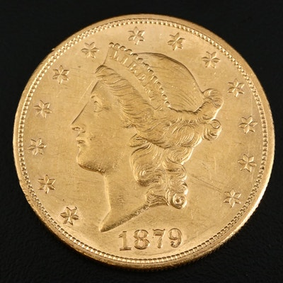 1879 Liberty Head $20 Gold Double Eagle Coin