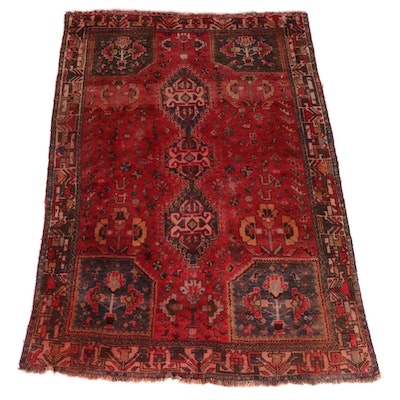 5'10 x 8'9 Hand-Knotted Persian Qashqai Wool Rug