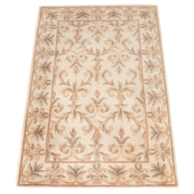 5'4 x 8'3 Hand-Tufted Chinese Carved Wool Rug for The Rug Gallery