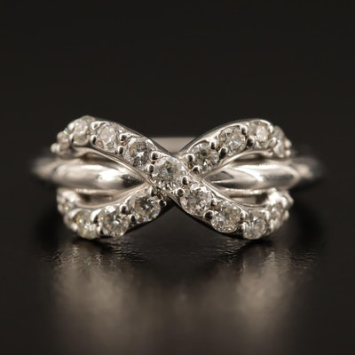 18K Diamond Infinity Ring
