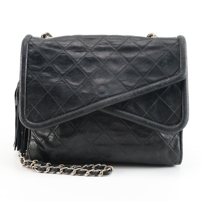 Chanel Asymmetrical Lambskin Leather Flap-Front Bag