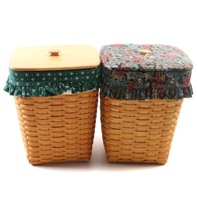 Longaberger Handwoven Hostess Hamper Baskets